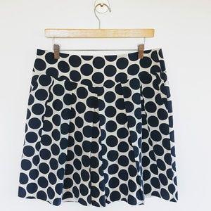 Banana Republic   Navy Polka Dot Pleated Skirt